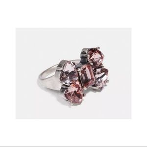 Coach Crystal Bow Ring New